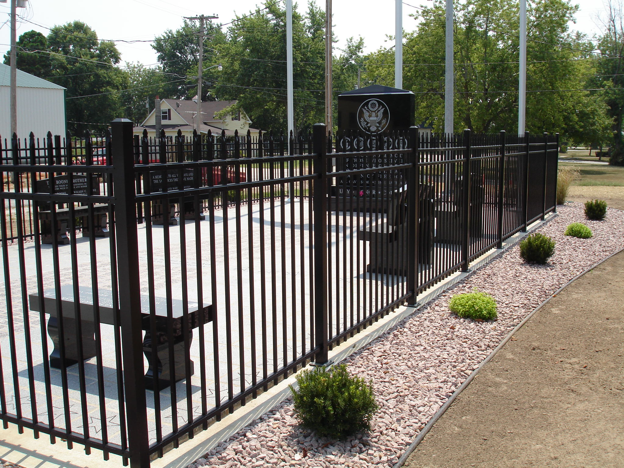 Ornamental aluminum fence w bar y co springfield mo