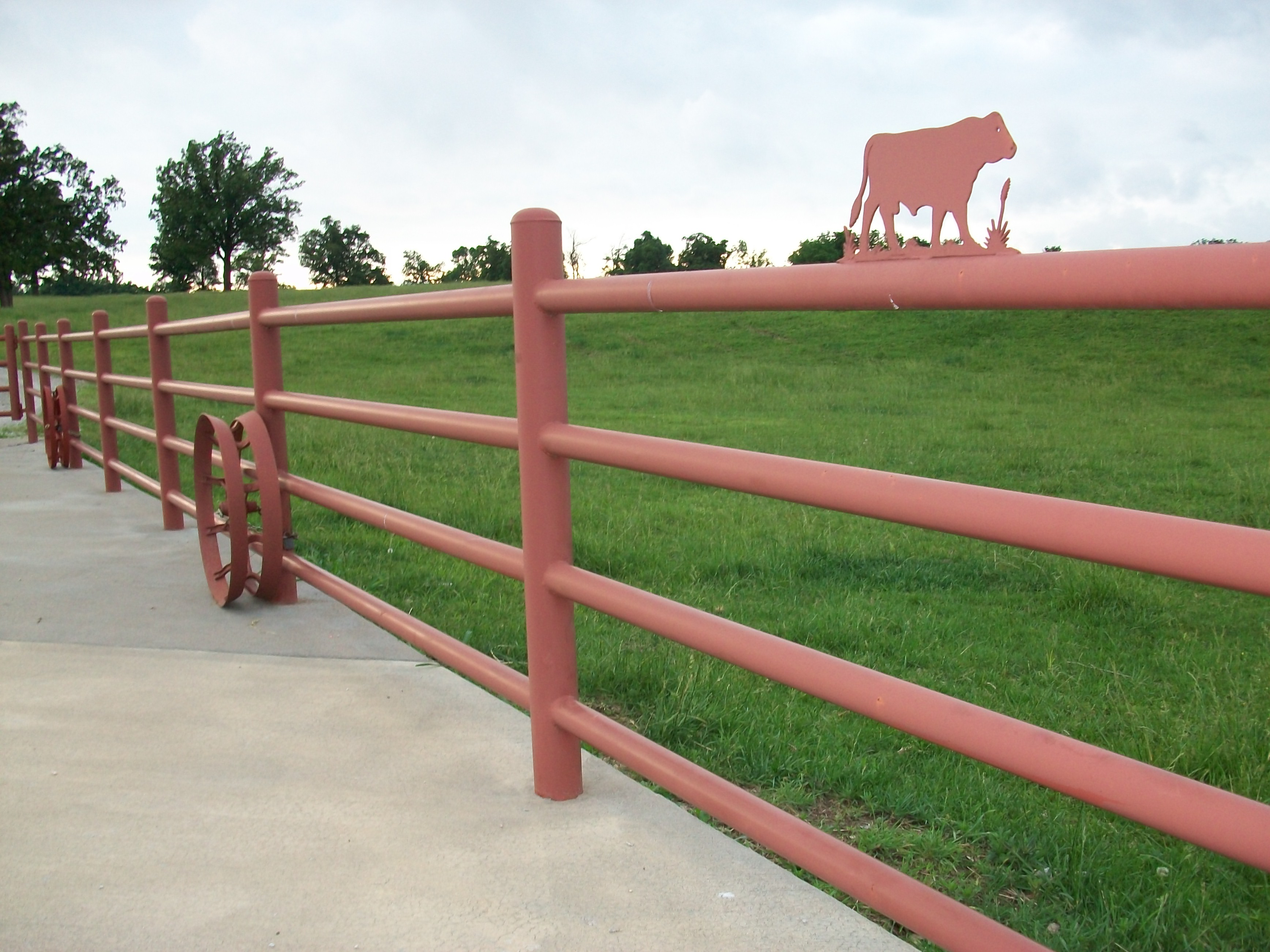 Decorative Fence Toppers 4 Rail Pipe Fence Fences Pinterest Pipes And Fence