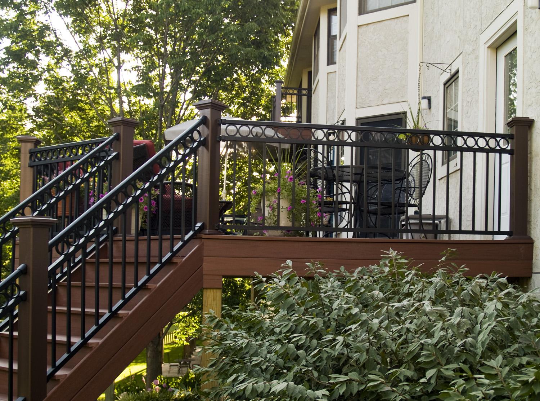 porch railing w bar y fence co springfield mo. Black Bedroom Furniture Sets. Home Design Ideas